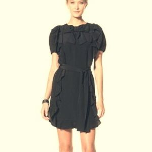 SEE BY CHLOE RUFFLED SILK DRESS